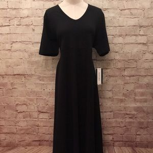 Harve Benard Black Maxi Dress Modest Short Sleeve